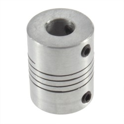 Acoplador 5x8mm aluminio