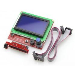 Pantalla LCD 12864 con Adaptador para RepRap Ramps 1.4